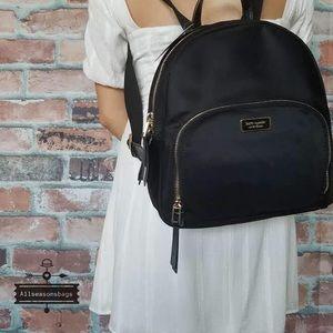 Kate spade medium nylon backpack black new